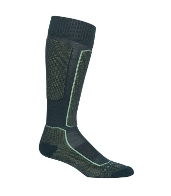 Icebreaker Women's Merino Ski+ Light Over the Calf Socks 女長筒薄滑雪襪 - Nightfall/Aloe