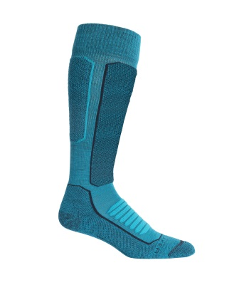 Icebreaker Women's Merino Ski+ Medium Over the Calf Socks 女長筒中毛滑雪襪 - Arctic Teal/Midnight Navy