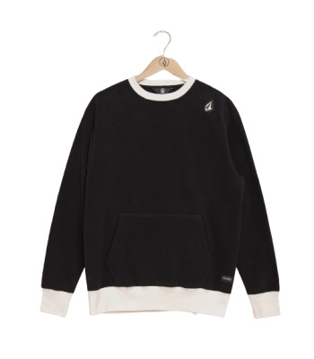 Volcom JP P200 CREW FLEECE 中層衣 - black