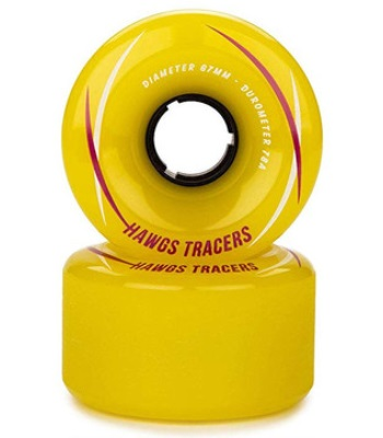 Landyachtz TRACER HAWGS 67MM 78A - Yellow Longboard Wheels 長板輪子